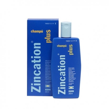 ZINCATION PLUS 10 MG/ML + 4 MG/ML CHAMPU MEDICINAL 1 FRASCO 200 ML