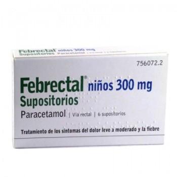FEBRECTAL NIÑOS 300 MG 6...