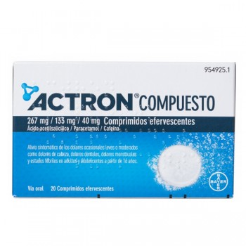 ACTRON COMPUESTO 267 MG/133...